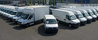 Afleverpakketen voor bedrijfswagens