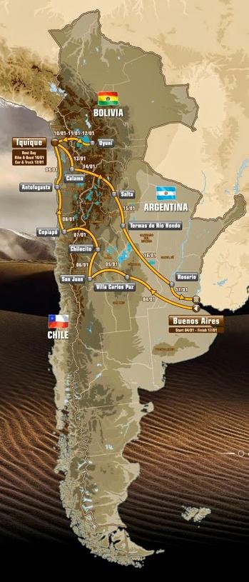 Route Dakar 2015