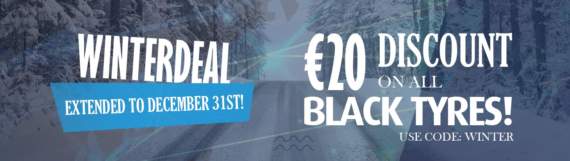 Winter deal at BAS Tyres €20,- discount use code WINTER