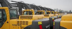 Large stock of used heavy machinery and construction equipment