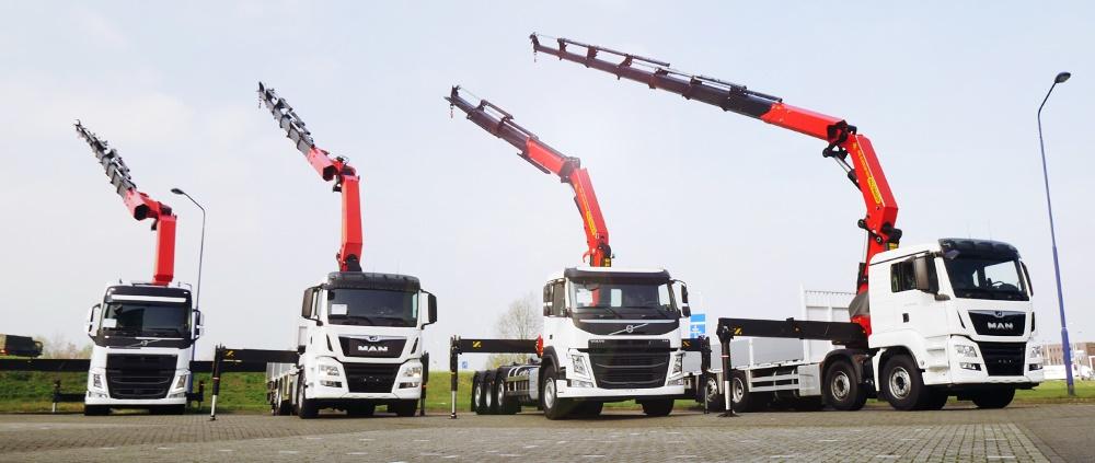 Nieuwe Volvo & MAN kraanwagens