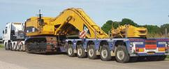 BAS Machinery takes care of the transport of your machinery of construction equipment
