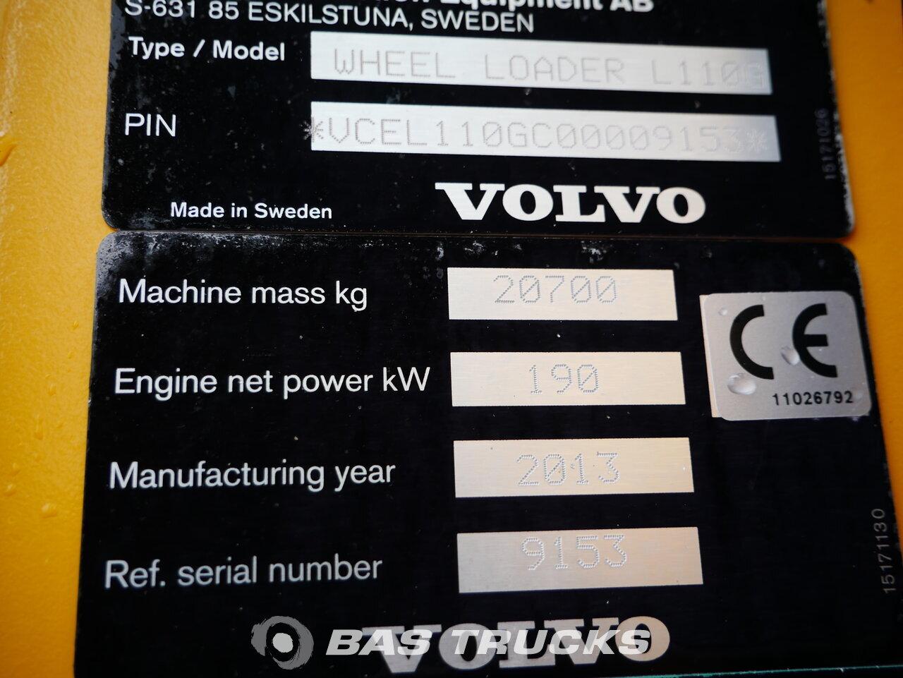 снимка на употребяван Строителна машина Volvo L110G 4X4 2013