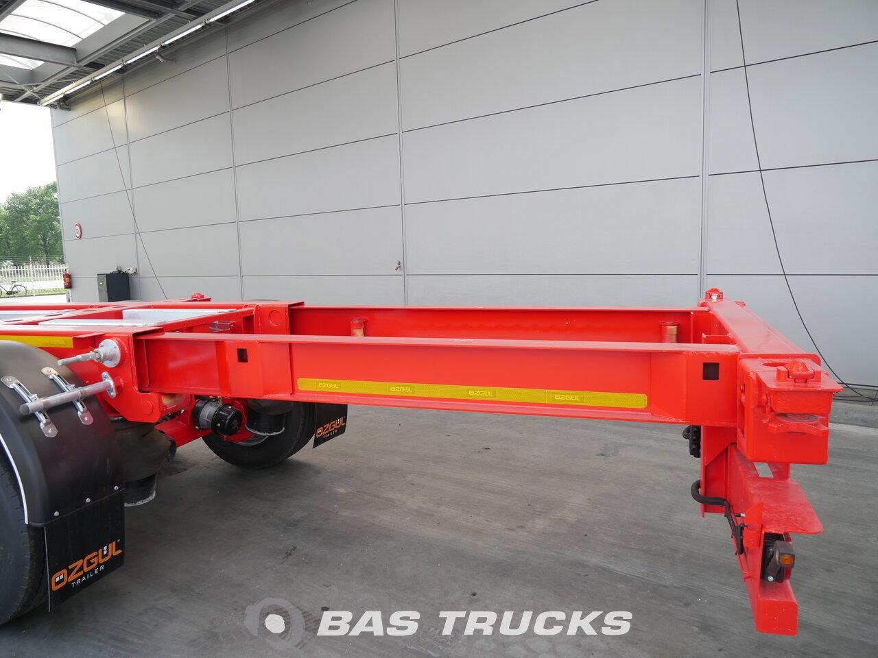 photo de Nouveau Semi-remorques OZGUL 2x Ausziehbar Extending-Multifunctional-Chassis Liftachse 3 Essieux