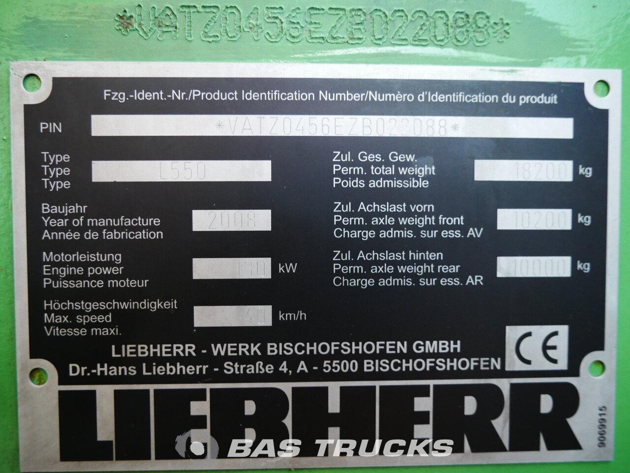 foto de Usado Máquinaria de construcción Liebherr L550 4X4 2008