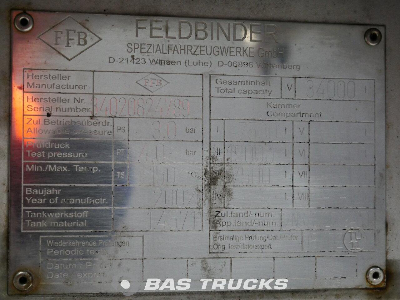 foto de Usado Semirremolque Feldbinder TSA34.3 Heizung 34.000 Ltr / 3 / Ejes 2002