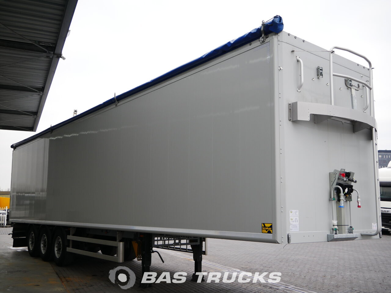 foto de Usado Semirremolque Kraker 91m3 6mm Floor Liftachse Cargofloor CF-500 K-Force Ejes 2018