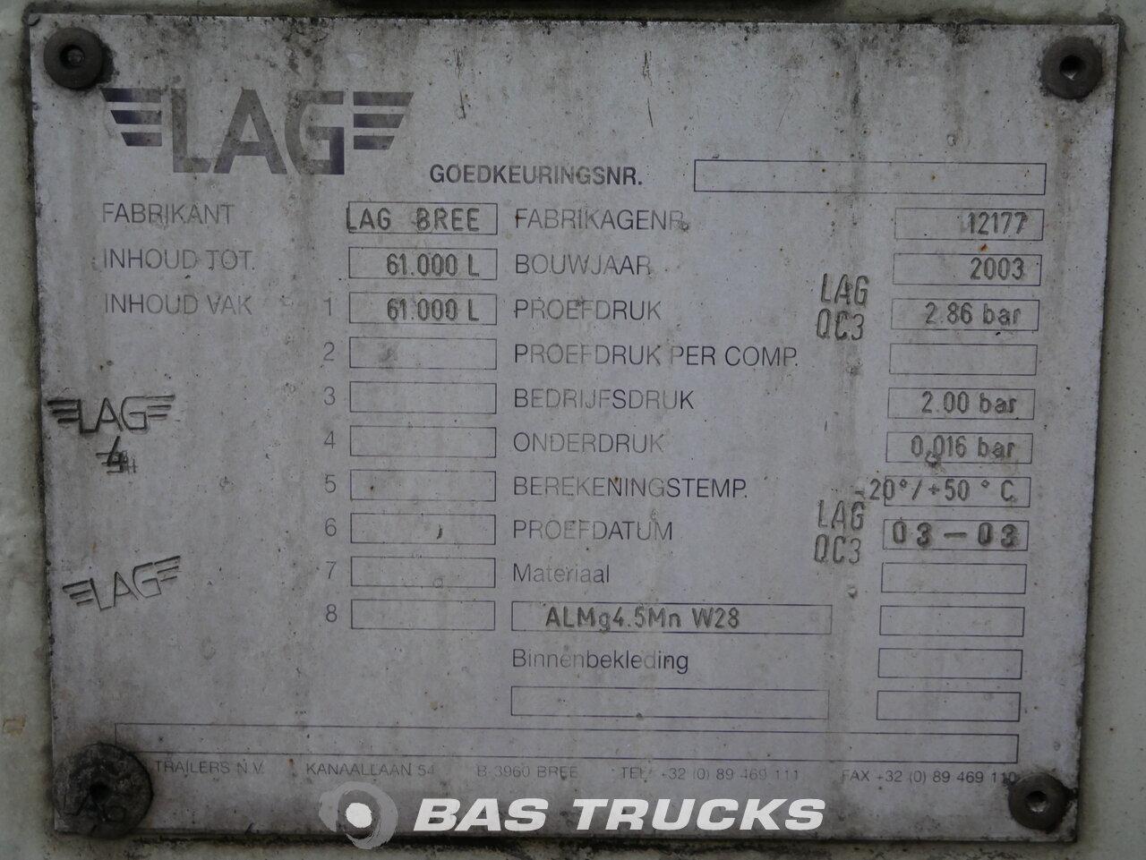 foto de Usado Semirremolque L.A.G. 61.000 Ltr Kippanlage O-3-40-02 3 Ejes 2003