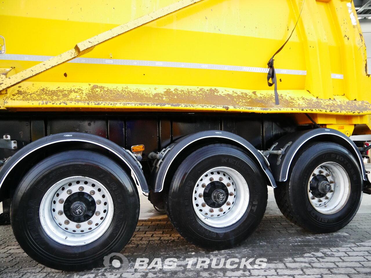 foto de Usado Semirremolque Ozunlu 23m3 Stahl kipper BPW 2x Liftachse ZK1 Ejes 2016