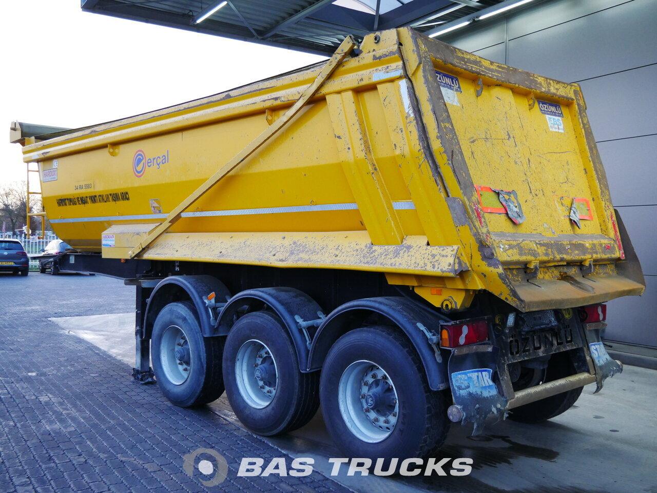 foto de Usado Semirremolque Ozunlu 23m3 Stahlkipper BPW 2x Liftachse ZK1 Ejes 2016