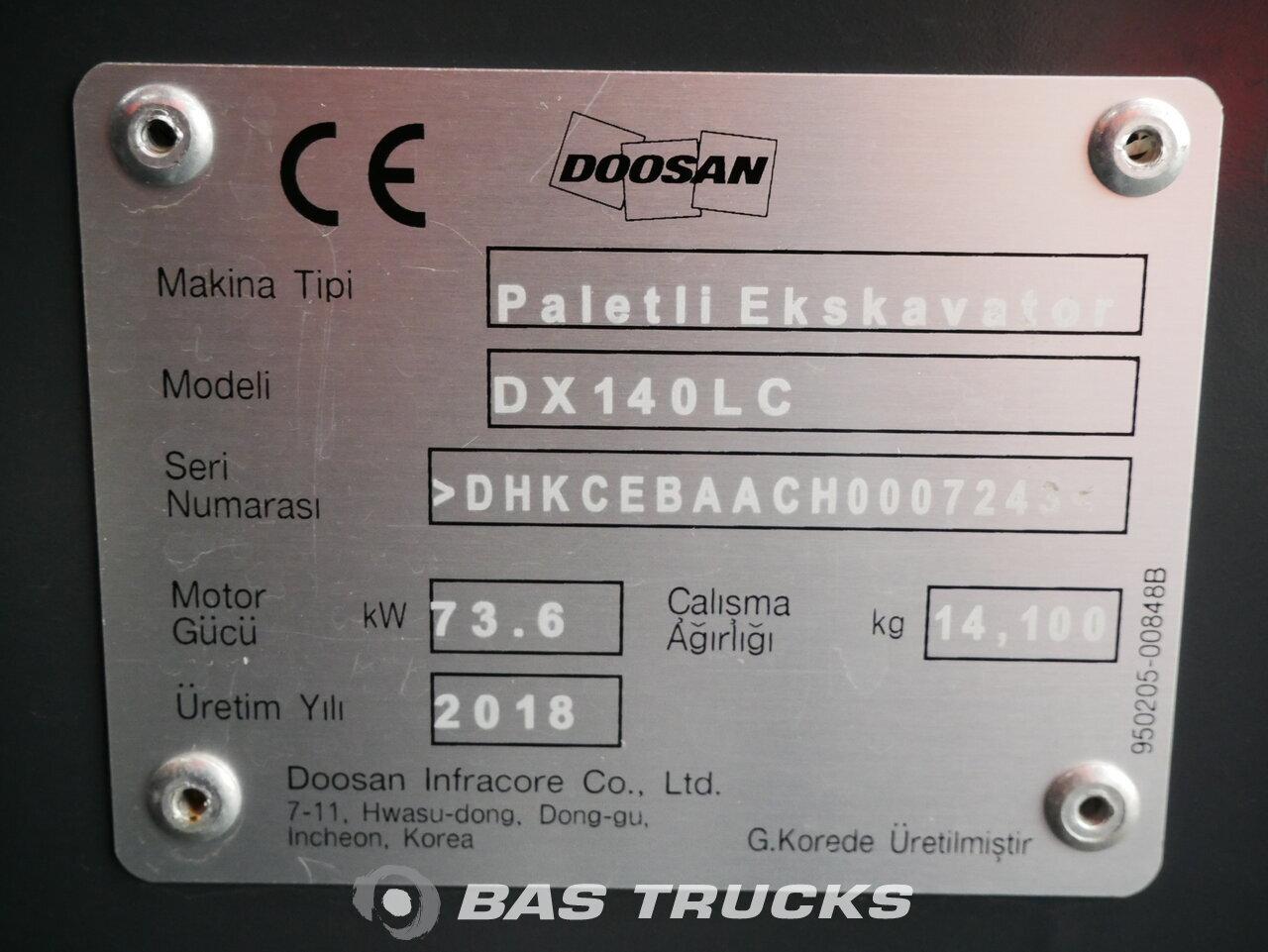 foto di Usato Macchine Movimento Terra Doosan DX140LC Track 2018