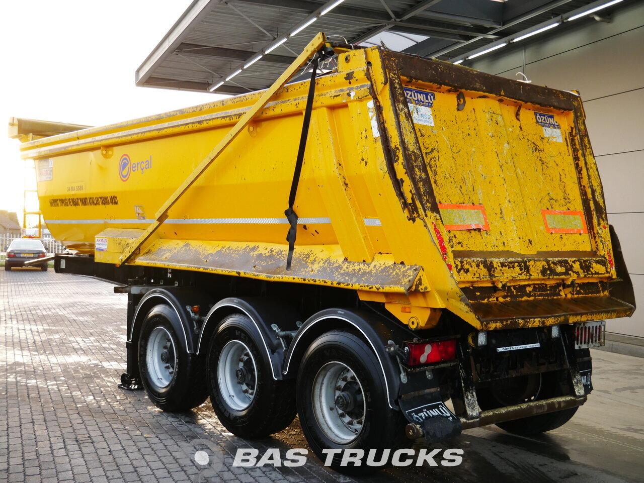 foto di Usato Semirimorchio Ozunlu 23m3 Stahl kipper BPW 2x Liftachse ZK1 assi 2016