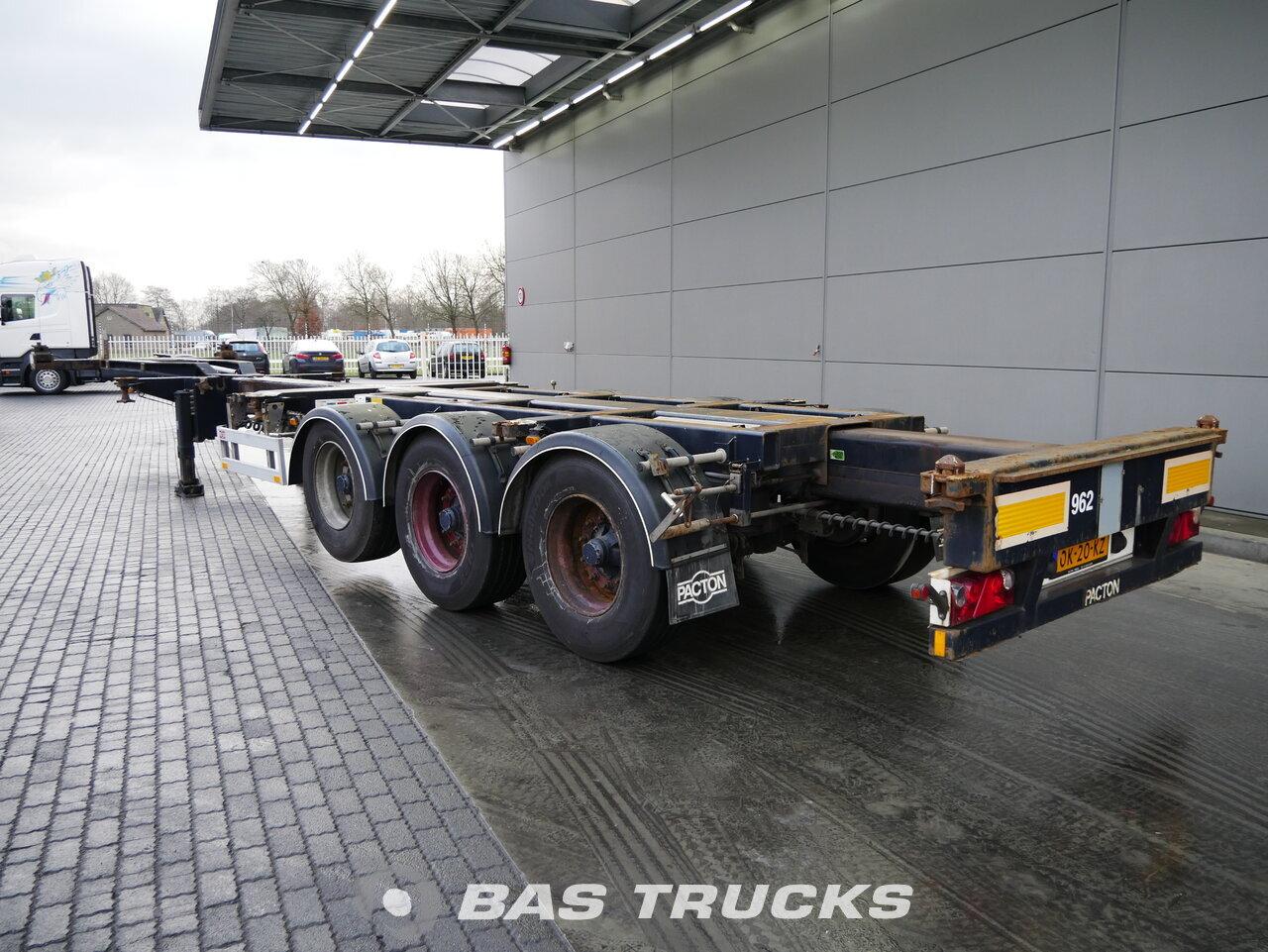 foto di Usato Semirimorchio Pacton T3-010 Liftachse 2x Ausziehbar Extending-Multifunctional-Chassis assi 2008
