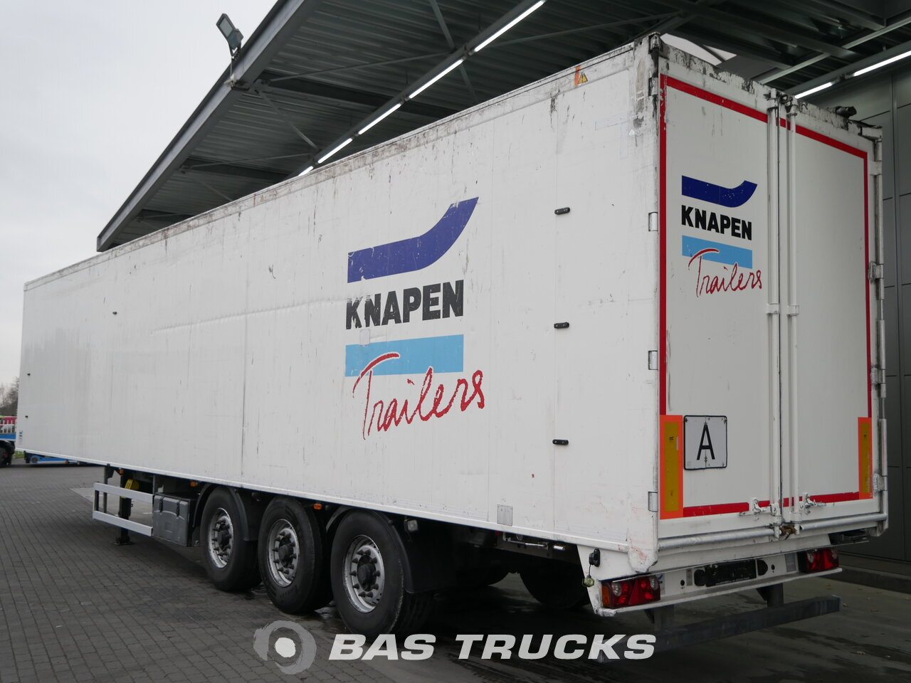 Fénykép: Used Poluprikolica Knapen 90m3 Liftachse Cargofloor 10mm K100 3 Osovine 2012
