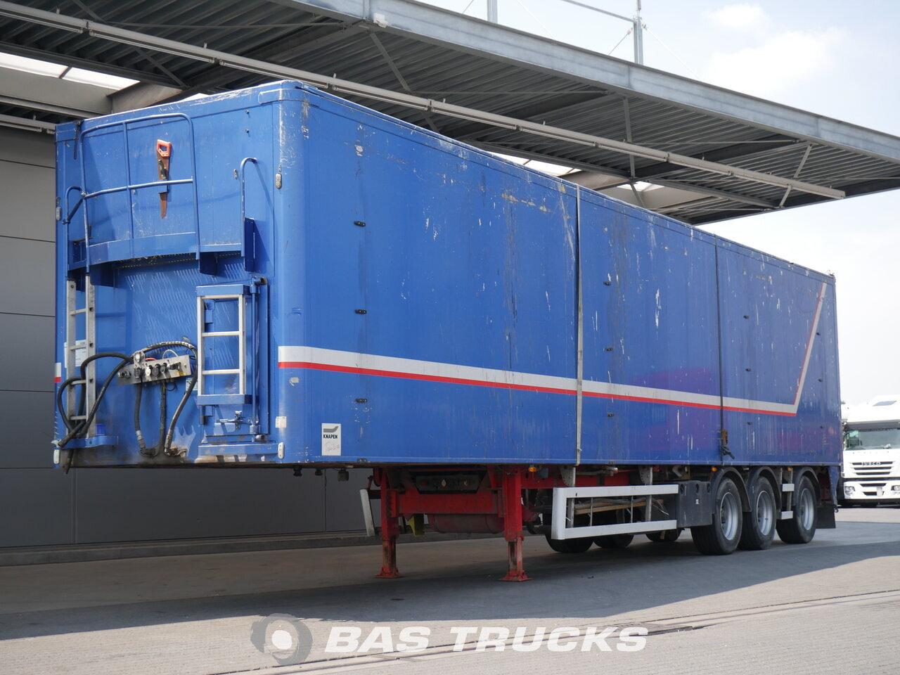 photo of Used Semi-trailer Knapen 91m3 Lift+Lenkachse K200 Walking Floor Cargo Floor CF7 3 Axels 2008