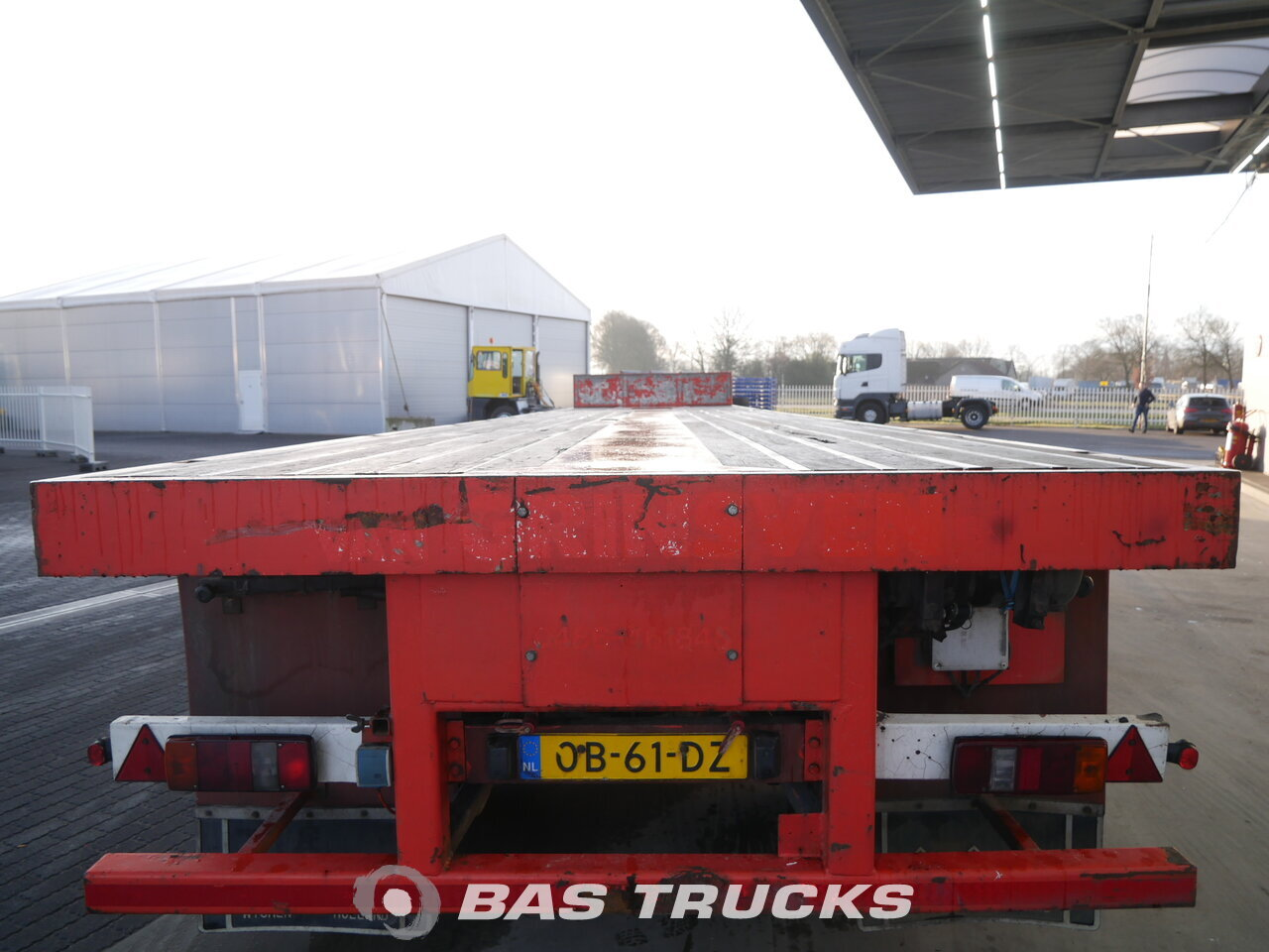 photo of Used Semi-trailer Nooteboom Ausziehbar Bis:19m45 2-Lenkachsen OVB-38 VV Gepflegt! Good Condition! Axels 1989