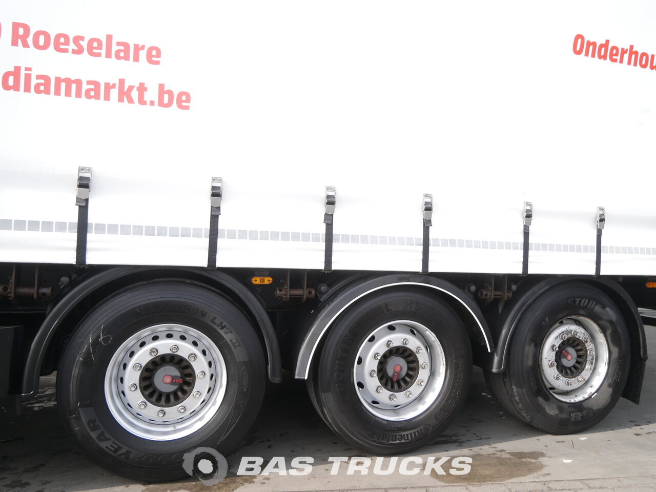 photo of Used Semi-trailer Pacton Palettenkasten Hartholz-Bodem TXD339 Axels 2007