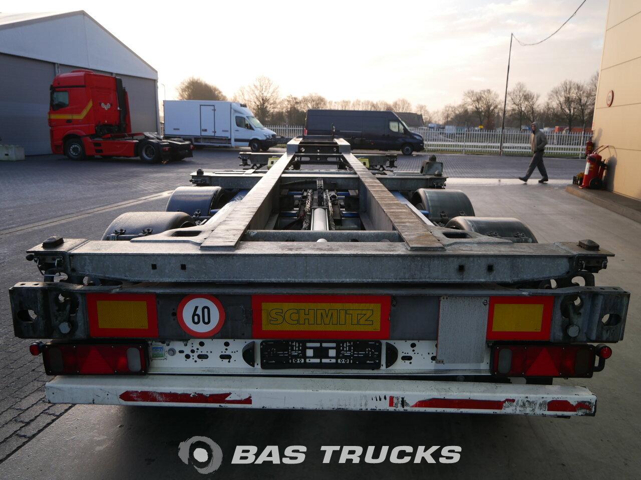 photo of Used Semi-trailer Schmitz 2x Ausziehbar Extending-Multifunctional-Chassis Liftachse SGF*S3 Axels 2014