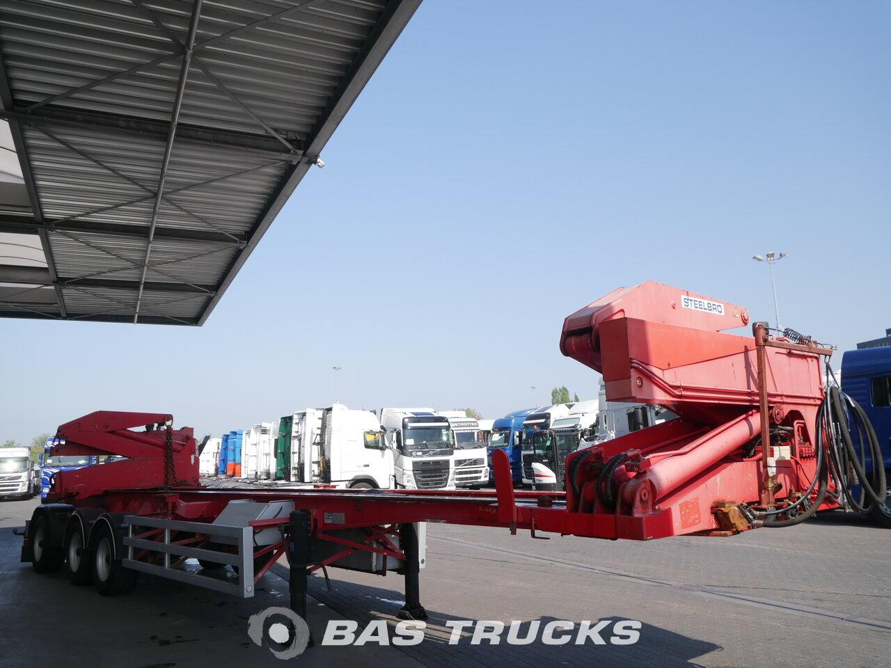 photo of Used Semi-trailer SteelBro Sideloader Liftachse Lenkachse SBSS343F  Axels 1999