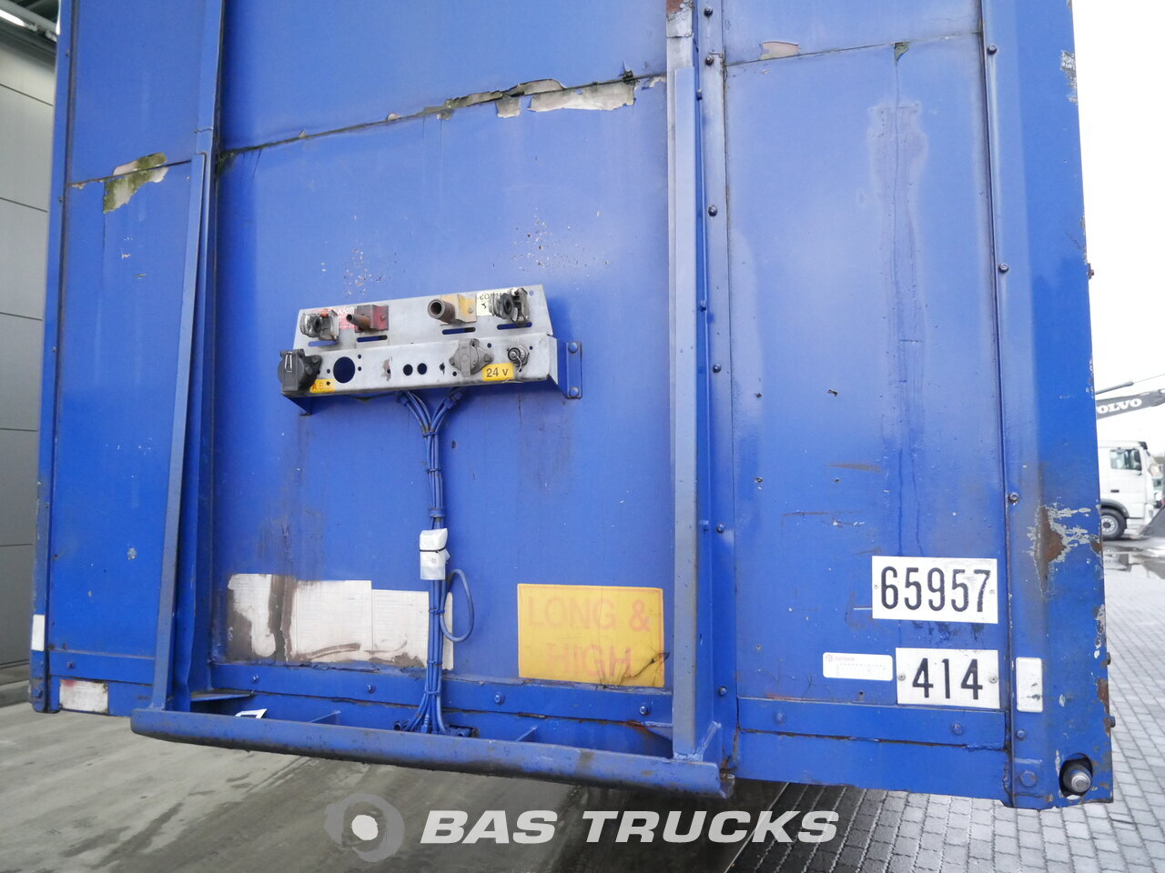 photo of Used Semi-trailer Van Hool Mega Hubdach 3B2003 Axels 1998