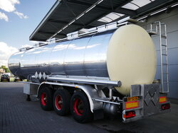 photo of Used Semi-trailer Dijkstra Chemie tank 37.500 Ltr / 1 Kammer / Liftachse DRVO 14-27 3 Axels 1994