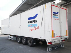 photo of Used Semi-trailer Knapen K100 92m3 Liftachse Cargofloor 10mm 3 Axels 2012