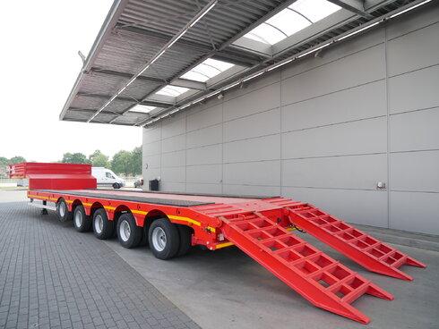 photo of New Semi-trailer GURLESENYIL Liftachse 2x Lenkachse Hydro-Rampen GLY5 5 Axels