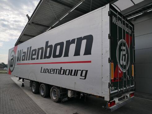 photo of Used Semi-trailer Van Eck Mega Aircargo Luchtvracht Rollerbahn PT-3LN Axels 2006