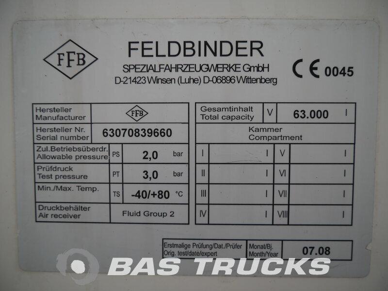photo de Occasion Semi-remorques Feldbinder 63.000 Ltr / 1 / Kippanlage KIP 63.3 3 Essieux 2008