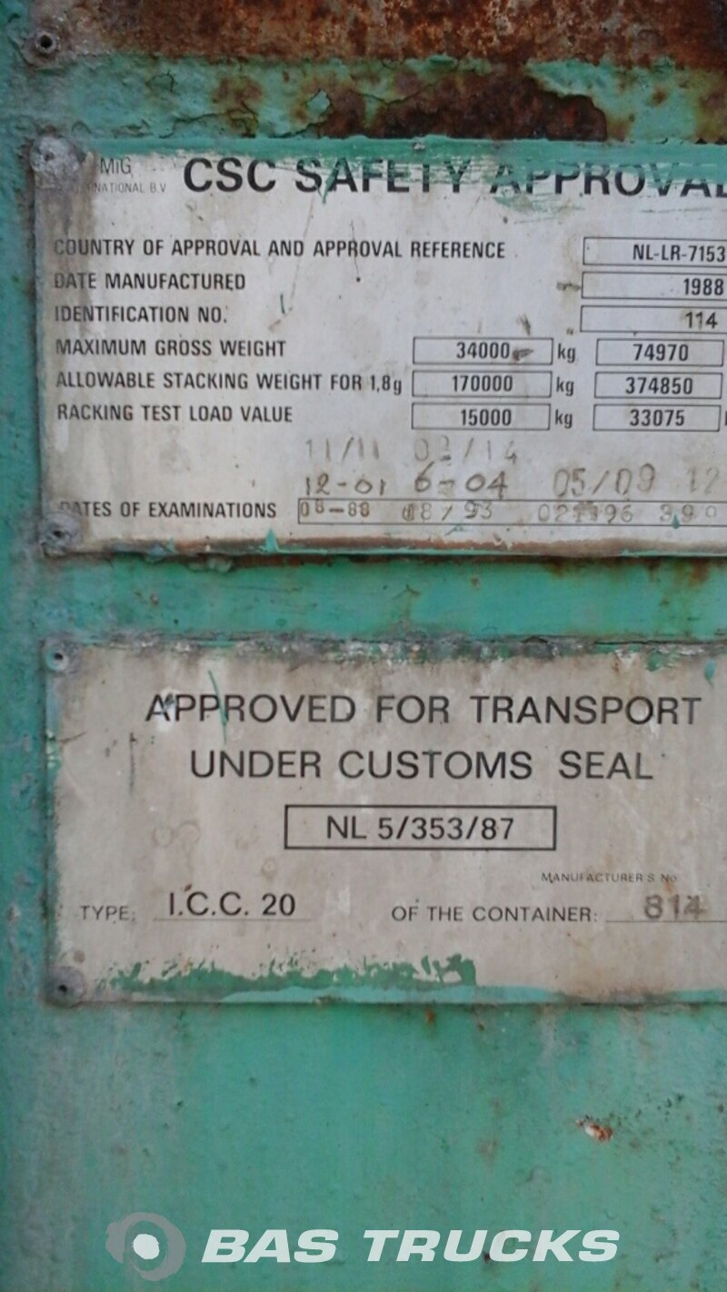 photo of Used Containers MIG International 20Ft Tankcontainer IMO-1 27000Ltr 20ft 1970
