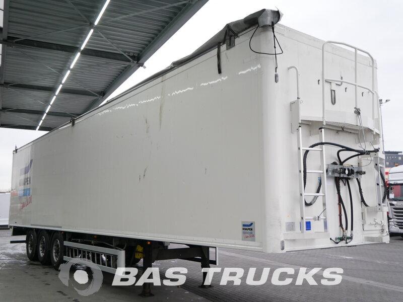 photo of Used Semi-trailer Knapen 90m3 Liftachse Cargofloor 10mm K100 3 Axels 2012